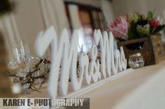 Mrs & Mrs Main Table Cut-Out. W/ Box arrangement (Mixed Protea, Aloe & Succulent Arrangement)