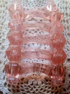 Pink Depression Glass Handles