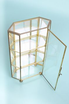 Mini vitrine terrarium Small Curio Cabinet, Curio Cabinets, Structure Metal, Terrarium, Magazine Rack, Decorative Boxes, Glass, Fan, Home Decor