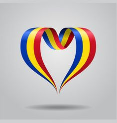 Vector Graphics, Vector Art, Romanian Flag, Free Vector Images, Heart Shapes, Ribbon, 1 Decembrie, Illustration, Royalty