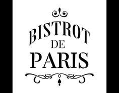 Bistrot de Paris Word Art Stencil  Select Size  por StudioR12