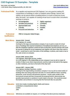 1000+ images about Resume on Pinterest | Cad engineer, Resume ...