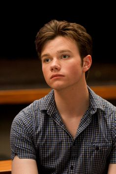Chris Colfer poses for a photo during a portrait session at Paramount Studios in Hollywood, California on September 28, 2010
