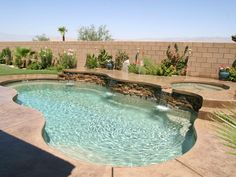 Viking Pools | Pool & Spa Combo | raised wall for spa