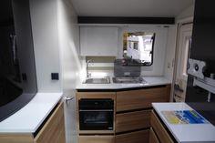 2018 Adria Action 361 LT, Single Axle, 2 berth, End Kitchen Caravane Adria, Caravans, Centre, Kitchen Appliances, Action, Dreams, Home, Diy Kitchen Appliances, Home Appliances