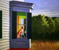 Edward Hopper Cape Cod Morning painting is shipped worldwide,including stretched canvas and framed art.This Edward Hopper Cape Cod Morning painting is available at custom size. Rembrandt, Franz Kline, American Realism, American Artists, Edouard Hopper, Edward Hopper Paintings, Art Sur Toile, Robert Rauschenberg, Paul Klee