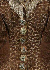 Jacques Doucet - Robe - Soie, Perles, Broderies et Boutons Emaillés - Vers 1880