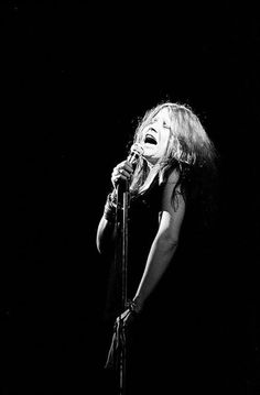 Janis Joplin live at Fillmore East, 1969. Photo by David Fenton.