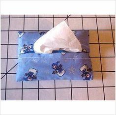 Purse / Pocket Size Tissue Cover - Blue Snowmen on eBid United States