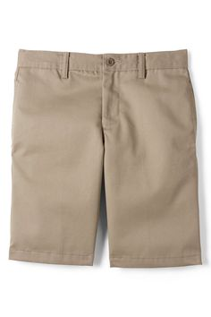 32a495ab School Uniform Boys Cotton Plain Front Chino Shorts from Lands' End Chino  Shorts, Khaki