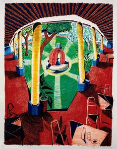 David-Hockney View-of-Hotel-Well-III -The-Moving-Focus-Serie - 1984-8