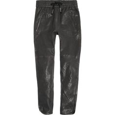 Isabel Marant Daniels leather tapered pants, Black, Women's, Size: 34 (4.090 BRL) ❤ liked on Polyvore featuring pants, isabel marant, trousers, real leather pants, taper cut pants, leather trousers and genuine leather pants