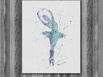 Ballerina Printable Watercolor art print