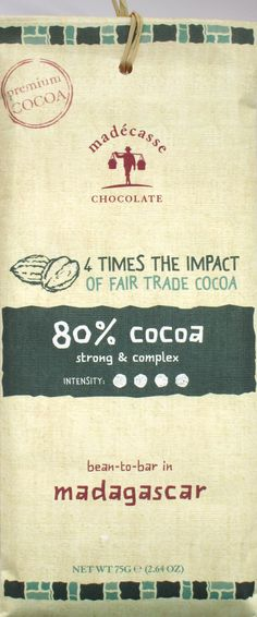 Madécasse 80% Madagaskar-Schokolade