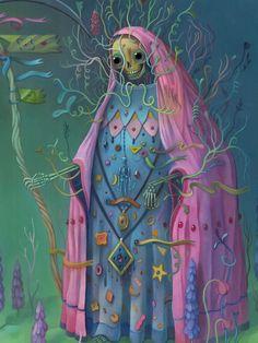 charlie immer illustration surreal colour - En kunstner og farvemester, der blander det makabre med det naive