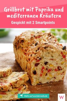 Weight Watchers: 5 neue Grill-Rezepte Side dishes may simply be missing in any barbeque. This delicious grill bread with only 2 Smartpoints is perfect for that. Barbecue Recipes, Grilling Recipes, Paleo Recipes, Lunch Recipes, Baking Recipes, Easy Recipes, Grilled Bread, Best Fruits, Food Items