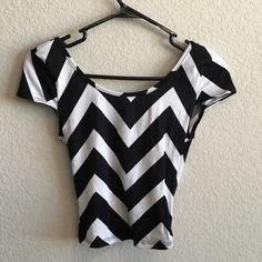 Crop top ❗️SOLD ON MERCARI❗️Black and white ready for the summer crop top ❤️ Check this top out on Mercari for sale and with a cheaper shipping price too! Charlotte Russe Tops Crop Tops