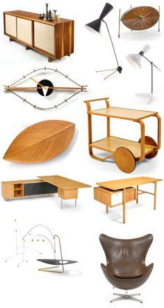 Mid Century Modern Furniture .   C'est un époque où le design a explosé j ' adore cette période.