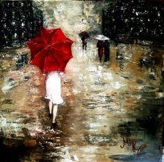Woman+with+Umbrella+Monet+Painting+ +Red+Umbrella+»+Red+Umbrella