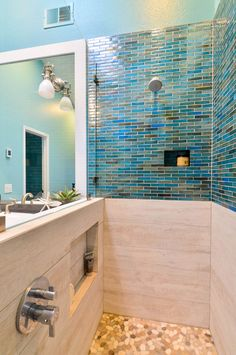 coastal-inspired shower | Signature Designs Kitchen Bath