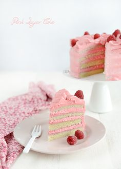 Vegan Pink Treats - As Requested! X Layer Cake with Raspberry Frosting! Sweet Recipes, Cake Recipes, Vegan Recipes, Beautiful Cakes, Amazing Cakes, Patisserie Vegan, Pink Treats, Gateaux Vegan, Vegan Teas