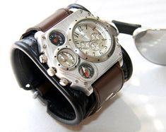 Mens wrist watch bracelet Highlander Steampunk Watches by dganin