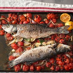 Quick-Roasted Branzino with Dry Vermouth & Tomatoes