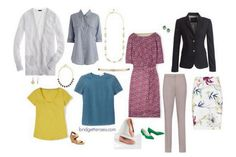 spring wardrobe capsule - see link for outfit suggestions