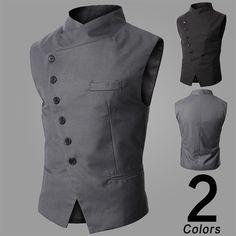 Men's Clothing Fashion Male British Style Slim Colete Masculino Cotton Sleeveless Jacket Waistcoat Men Suit Vest M301