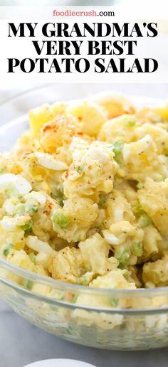 Best Potatoe Salad, Best Potato Salad Recipe, Classic Potato Salad, Potato Salad With Egg, Easy Potato Salad, Easy Salad Recipes, Potato Recipes, Dinner Recipes, Healthy Recipes