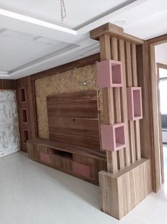 Room Partition Wall, Living Room Partition Design, Room Partition Designs, Living Room Tv Unit Designs, Bedroom Door Design, Tv Unit Interior Design, Tv Unit Furniture Design, Bedroom Furniture Design, House Ceiling Design