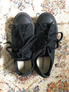 Converse Boys Black Size US 2, EUR 33.5 Boys, 20.5cm - Exc Cond