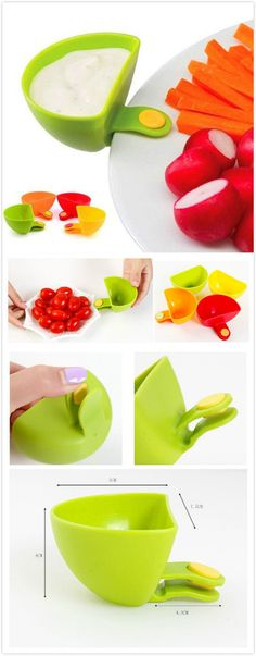 Small Dishes Soy Sauce Vinegar Flavoring Plates. #kitchen_gadgets