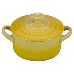 Complete your kitchen cookware set with the Le Creuset Stoneware 8 oz. Mini Round Cocotte. It's made of durable stoneware to maintain temperatures and block moisture absorption. It also has a non-stick interior that makes clean-up a breeze and is safe to use in the oven, freezer, or microwave. Pick from the select colors