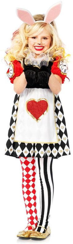 Cute Alice in Wonderland Roger Rabbit White Bunny Dress Outfit Girls Kid Costume #LegAvenue #CompleteCostume