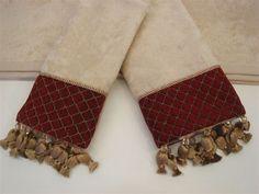 Antoinette Wheat Decorative 3 Piece Towel Set