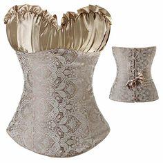 106d4862bcc Women s Lace Up Boned Plus Size Overbust Corset Bustier Waist Training  Cinche