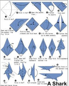 Easy Origami Fish Printable Instructions #1