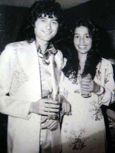 Jimmy Page and Lori Maddox