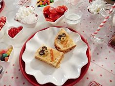 """Pizza Grilled Cheese (Kids' Gingerbread House Party) - Giada De Laurentiis, """"Giada's Holiday Handbook"""" on the Food Network. Giada De Laurentiis, Limoncello, Giada Recipes, Cooking Recipes, Easy Cooking, Healthy Cooking, Giada's Holiday Handbook, Grilled Cheese Recipes, Grilled Pizza"""