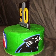 Super Bowl 50 Panther cake by yuMM