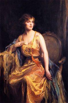 ~ Philip Alexius de László ~ Hungarian artist, 1869-1937: Mrs Rose