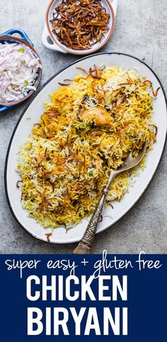 Chicken Biryani is a one pot Indian recipe that's easy to make at home with step by step directions. It's a great main for holidays and parties and is naturally gluten free. This Hyderabadi style recipe is as authentic as it gets and is ready in an hour. #indian #biryani #chicken #onepot #pakistani #authentic #curry #myfoodstory #glutenfree via @my_foodstory