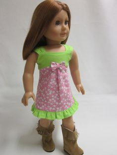 18 inch American Girl Doll Clothes Springtime by IndustriousDog, $11.00