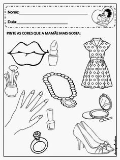 Atividades dia das mães Preschool Math, Crafts For Kids, Fish Activities, Mother's Day Activities, Sight Word Activities, Kids Learning Activities, Encouraging Quotes For Kids, Ideas For Mothers Day, Initials