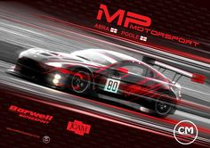 Poster for the British GT team Barwell MP Motorsport GT3 Aston Martin for the opening round