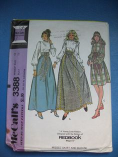 McCall's 5781 Pattern // 70's Misses' Skirt & by ElkHugsVintage, $5.50