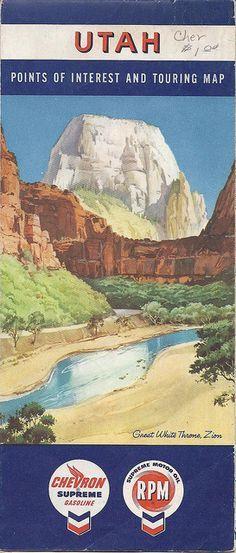1959 Utah Road Map