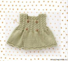 Crochet Knitting Handicraft: Dress for the little girl Kids Knitting Patterns, Knitting For Kids, Baby Vest, Baby Cardigan, Little Girl Dresses, Little Girls, Short Dresses, Summer Dresses, Baby Kind