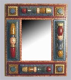 Tramp Art mirror